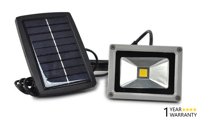 10W Solar Powered LED Flood Light