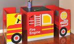 Fire Engine Kids Table and Chairs Set