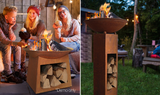 Outdoor Rust Cast Iron Fire Pit