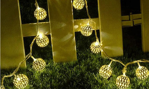 Solar Powered 20 Moroccan LED String Light