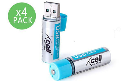 Battery - Four USB Rechargeable Batteries 1.5V