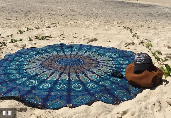 Beach Mats - Indian Bohemian Style Mandala Beach Mat