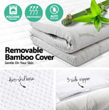 Bedding - Cool Gel Memory Foam Mattress Topper W/ Bamboo Fabric Cover