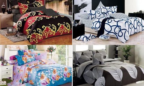 Bedding - Doona Quilt Duvet Cover Set - 100% Cotton