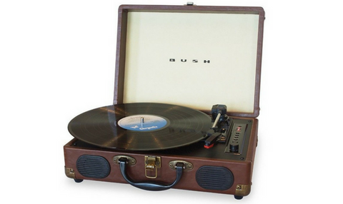 Bush Mini Portable Retro Turntable