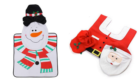 Christmas Toilet Seat Cover & Mat Set