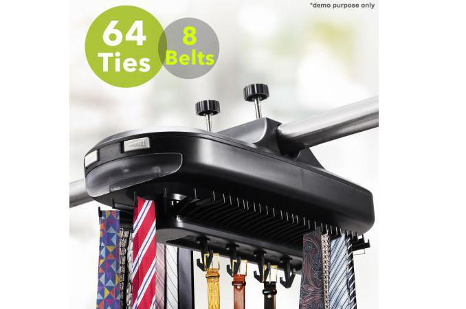 Deluxe Motorized Tie Rack