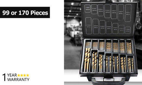 Titanium Coated HSS Drill Bit Sets