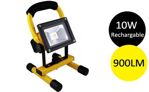 Home & Garden - 10W Rechargeable LED Flood Work Light - 900LM
