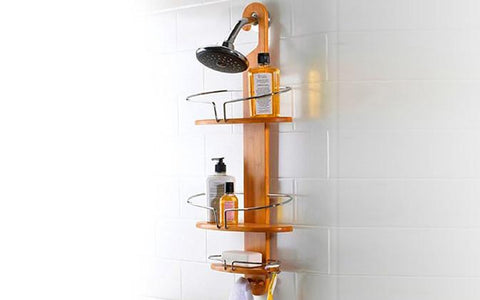 Home & Garden, Bathroom, Shower - Bamboo Shower Storage Caddy