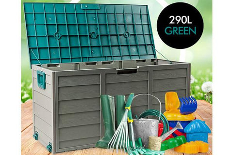 Home & Garden,Christmas Gift Ideas,Home Storage,Garden,End Of Season - Huge 290L Outdoor Storage Box