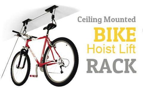 Home & Garden,Gift Ideas,Under $20 Deals - Ceiling Mounted Bike Hoist Lift Roof Rack