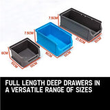 Home & Garden,Home Storage,Auto Accessories,End Of Season - Wall Mounted Tool Parts Storage Bin Rack - 44 PCS