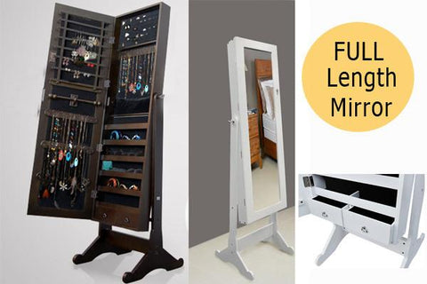 Home & Garden,Home Storage,Home Deco,Essentials - Mirror Jewellery Cabinet Storage Organiser