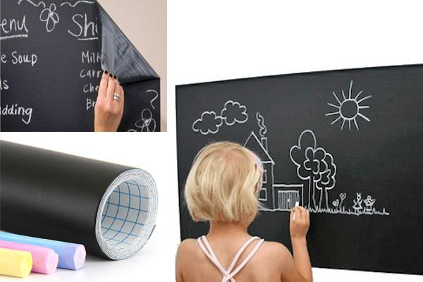 Home & Garden,Kidz Zone,Gift Ideas,Under $20 Deals,Home Deco - 6-Foot Removable Blackboard Decal