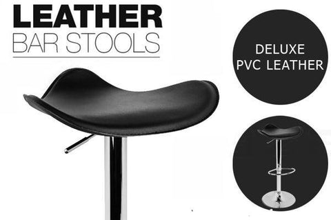 Home & Garden,Kitchen & Appliances,End Of Season - 2x PVC Leather Bar Stool With Gas Lift