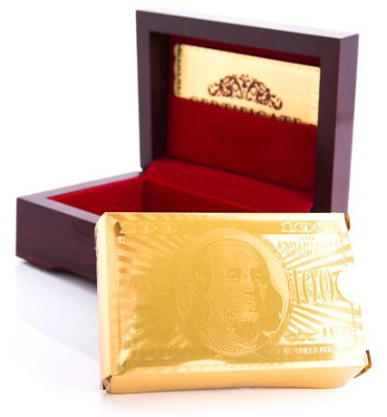 Home & Garden,Under $20 Deals,All Of Store - 24k Gold-Foil Playing Cards W/ Optional Gift Box