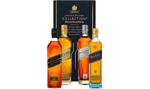 Johnnie Walker The Collection Scotch Whisky Pack 4x200ml (Boxed