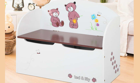 Kids Toys Box Storage Bench