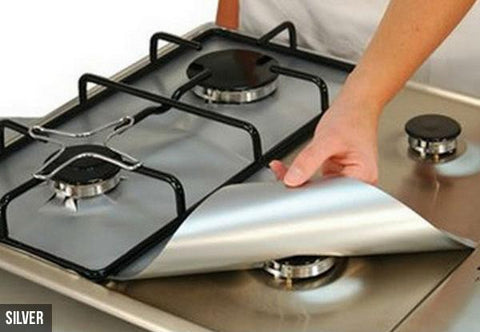 Kitchen - Four Pack Of Reusable Non Stick Gas Hob Protectors