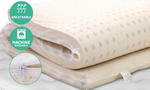 7 Zone Pure Natural Latex Mattress Topper 5cm Queen