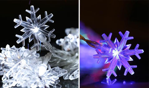 LED Light - Snowflake 20 LED Solar String Light