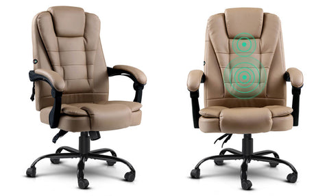 Recliner Office Massage Chair PU Leather