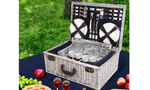 6-Person Picnic Basket with Cooler Bag
