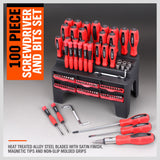 100Pc Magnetic Screwdriver Set