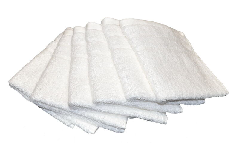 6 x 620GSM Pure Cotton Face Washer Towels