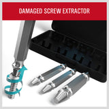 4PC Damaged Screw Extractor Drill Bits