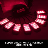 8 Pods RGB LED Rock Lights with Bluetooth Control