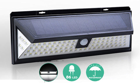 Solar Powered Motion Sensor Light 86 LED