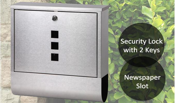 Stainless Steel Post Newspaper Letterbox