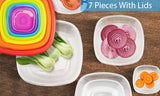 Set of 7 Reusable Bowls With Lids