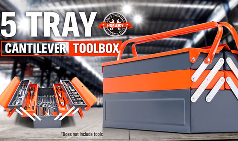 Portable Steel Toolbox - 5 Tray