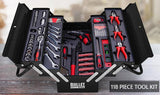 Tools & Equipment - 118pc Tool Box Kit Set