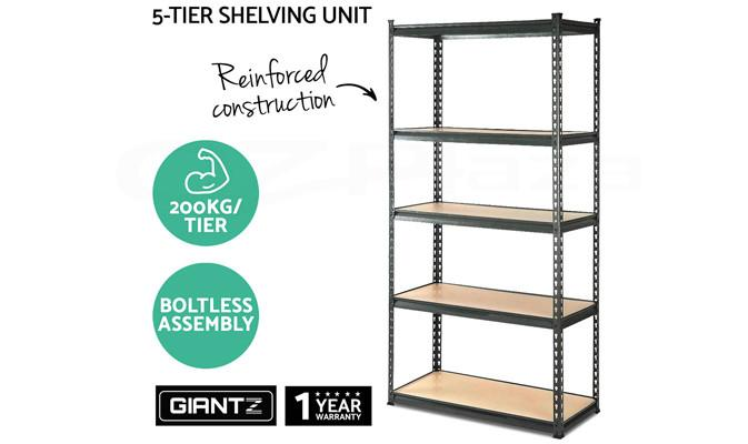 Tools & Equipment - 5-Shelves Steel Storage Racking Shelving