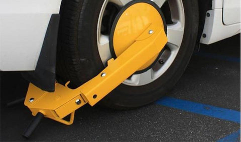 Vehicle Safety Equipment - Anti Theft Wheel Lock Clamp