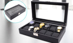 12 Grids Carbon Fiber Watch Gift Box