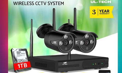 Wireless Security Camera System 1080P 4CH NVR