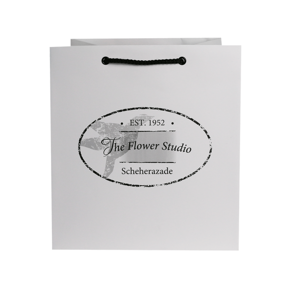 FLORIST PAPER BAG WITH CORD HANDLES