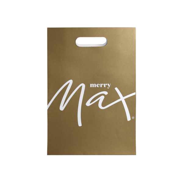 KRAFT PAPER GIFT BAG WITH DIE CUT HANDLES