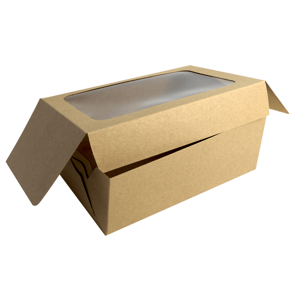 CARDBOARD BOX WITH CLEAR WINDOW