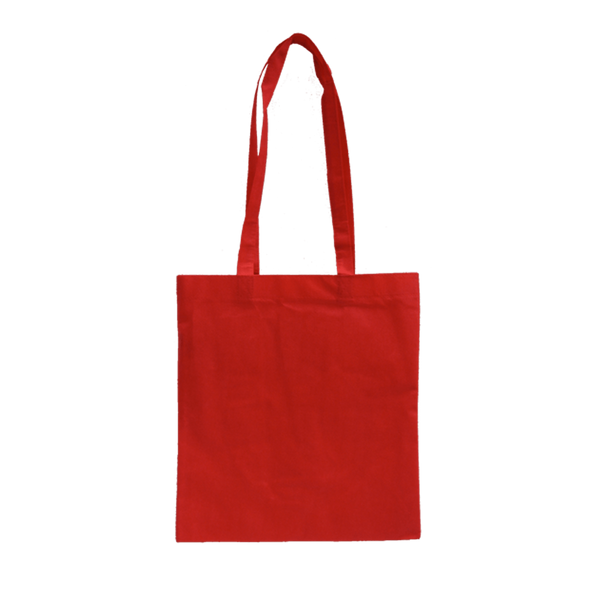 MEDIUM RED ECO BAGS WITH LONG HANDLES - 50 UNITS