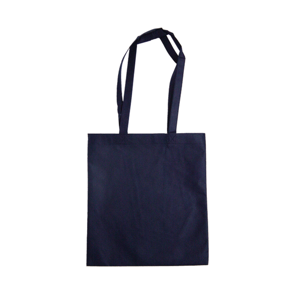 MEDIUM NAVY ECO BAGS WITH LONG HANDLES - 50 UNITS