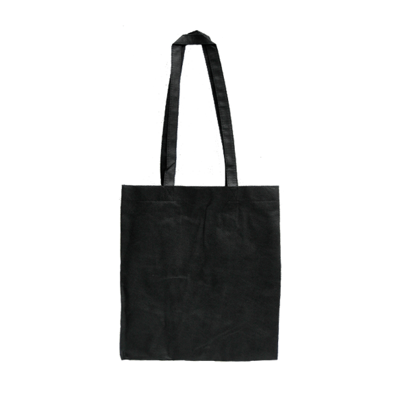 MEDIUM BLACK ECO BAGS WITH SIDE GUSSETS - 50 UNITS