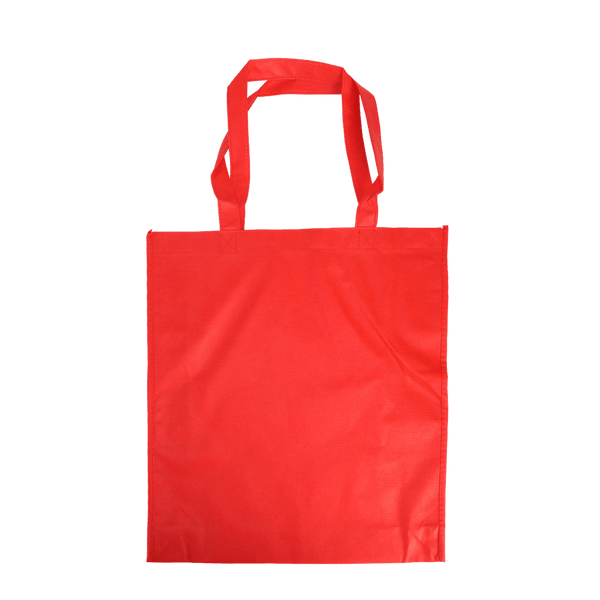 MEDIUM RED ECO BAGS WITH SIDE GUSSETS - 50 UNITS