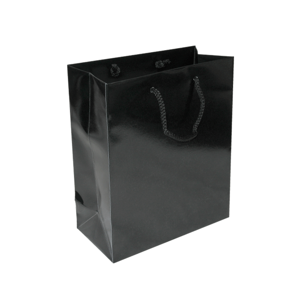 SMALL BLACK GLOSS PORTRAIT BAGS - 100 UNITS