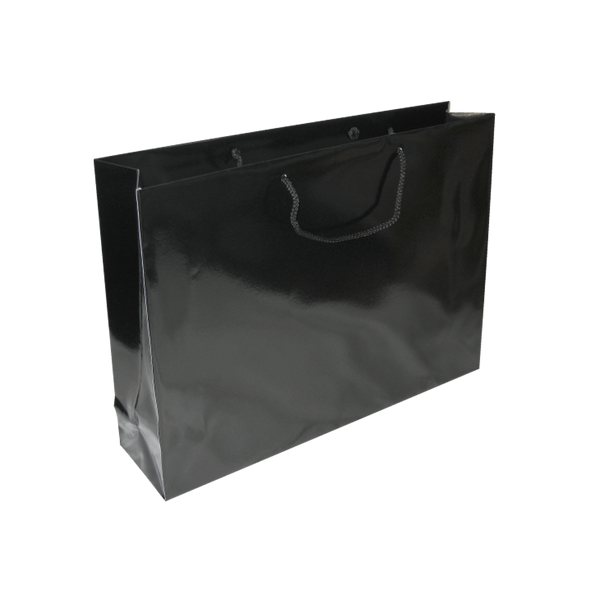 LARGE BLACK GLOSS LANDSCAPE BAGS - 100 UNITS